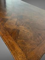 French Parquetry Extending Dining Table Oak & Walnut (7 of 10)