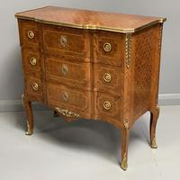 Small French kingwood parquetry chest of drawers (6 of 7)
