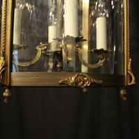 French Gilded Bronze Antique Hall Lantern (8 of 10)