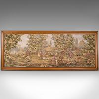 Large Antique Panoramic Tapestry, French, Needlepoint, Decorative Panel c.1910 (2 of 12)