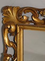 Small Late 19th Century Florentine Giltwood Mirror (3 of 4)