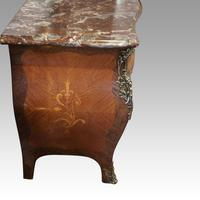1930's Marble Top Marquetry Bombe Commode (7 of 9)