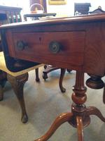 Victorian Mahogany Pembroke Table with Two Drawers (5 of 7)