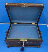 William IV Rosewood Sarcophagus Box with Inlay (12 of 13)