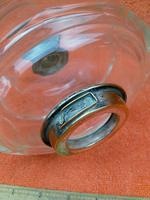 Antique Cut 12 Faceted Glass Oil Lamp Font / Fount Hicks & Sons Bayonet Collar (4 of 12)