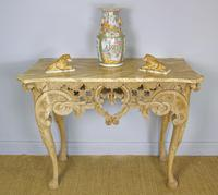 Early 19th Century Italian Console Table Sienna Marble Top (8 of 9)