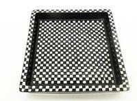 "Stig Lindberg - Gustavsberg Scandinavian Art Pottery 8""sq Domino Dish c.1955 (3 of 5)"