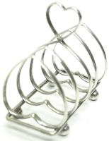 English Antique Solid Silver Heart Shaped Toast Rack, Super Design Fresh & Clean c.1920 (4 of 4)