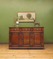 Solid Georgian Style Oak Dresser Base Sideboard by Titchmarsh & Goodwin (18 of 22)