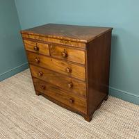 Victorian Country House Figured Mahogany Antique Chest of Drawers (4 of 6)