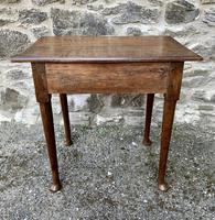 18th Century Georgian Oak Pad Foot Side Table (8 of 15)