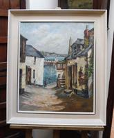 Oil on Canvas Cornish Sea View Listed Artist Dora Johns 1966 (10 of 10)