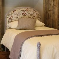 Upholstered Antique Bed with Painted Frame (2 of 8)