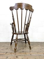 Antique Ash & Elm Armchair with Penny Seat (9 of 9)
