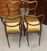 1940's Mahogany Set 4 Heart shape Dining chairs with Pop out Seats (2 of 3)