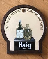Original Haig Whisky Advertising Pub Mirror