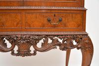 Antique Queen Anne Style Burr Walnut Cocktail Cabinet (11 of 11)