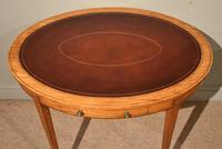 19th Century Oval Satinwood Writing Table (3 of 7)