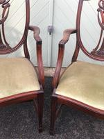 Antique Set of 8 Mahogany Dining Chairs (5 of 10)