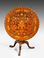 19th Century Dutch Marquetry Inlaid Tilt Table (5 of 7)