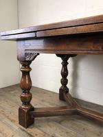 Extending Oak Draw Leaf Refectory Dining Table (3 of 17)