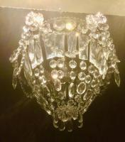 Small One Light French Bag Chandelier (3 of 5)