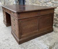 Huge Antique Victorian Oak Partners Desk (15 of 24)