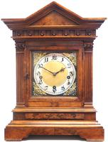 Incredible Burr Walnut Mantel Clock Westminster Chime Musical Bracket Clock Chiming on 5 Coiled Gongs (4 of 5)