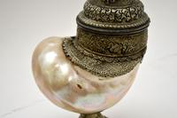 Antique Anglo Indian Silver Mounted Nautilus Shell Cup (15 of 21)