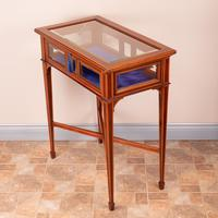 Fine Quality Edwardian Inlaid Mahogany Bijouterie Display Table (15 of 18)