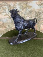 Bronze Sculpture of Bull Signed to the Base (3 of 5)