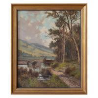 Abraham Hulk Junior, Autumnal Landscape with Distant Cottage