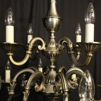 French Silver Gilded 12 Light Chandelier (10 of 10)