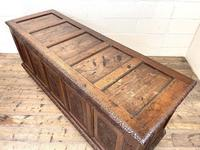 Huge 18th Century Carved Oak Coffer (8 of 9)