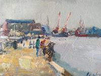 Riverside Gorleston by Geoffrey Chatten, R.B.A (2 of 4)