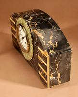 Art Deco Marble Clock Garniture French c.1940 (6 of 9)