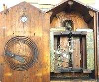 Antique Carved Early Cuckoo Clock Weight Driven Visible Pendulum (6 of 14)