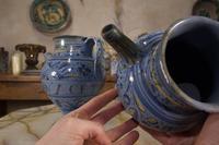 Pair of Mid 17th Century Italian Majolica Berettino Wet Drug Jars (11 of 11)