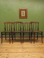 Four Antique Polish Thonet Style Bentwood Bistro Chairs with Pressed Seats (6 of 22)