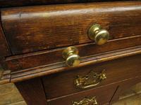 Antique Oak Roll Top Writing Desk, Tambour Front Bureau Desk (8 of 20)