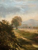 19thc British School - Travellers at Rest - Stunning Landscape Oil Painting (8 of 12)