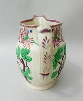 Attractive Pink Lustre Creamware Jug With Deer c.1820 (6 of 7)
