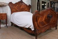 Lovely Quarter Veneer Louis XV Style Double Bed (10 of 10)