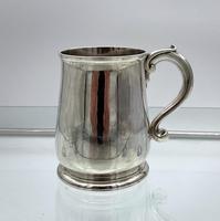 Antique George II Sterling Silver Pint Mug London 1728 Edward Vincent (3 of 7)