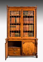 Regency Period Mahogany Bookcase with Matching Flared Panels to the Bottom Doors (5 of 6)
