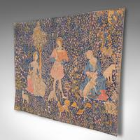 Large Antique Tapestry, French, Needlepoint, Decorative Wall Covering c.1920 (3 of 12)