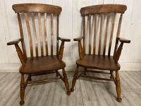 Pair of Edwardian Farmhouse Fireside Chairs (4 of 4)