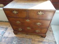Neat English 18th Century Oak Chest of Drawers (3 of 11)