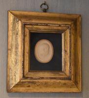 Framed Georgian Plaster Cast Profile Medallion (4 of 5)