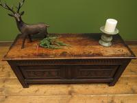 Antique Continental Carved Oak Coffer, Blanket Box, Hall Storage Chest for shoes (12 of 17)